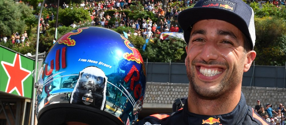 I run these streets  The message on the helmet says it all. @danielricciardo will start on pole at the #MonacoGP for the second time on Sunday