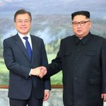 Image for the Tweet beginning: North and South Korean leaders