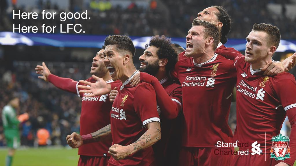 Good luck today @LFC 💪. We're here for you. #StandRed 🔴 #WeAreLiverpool