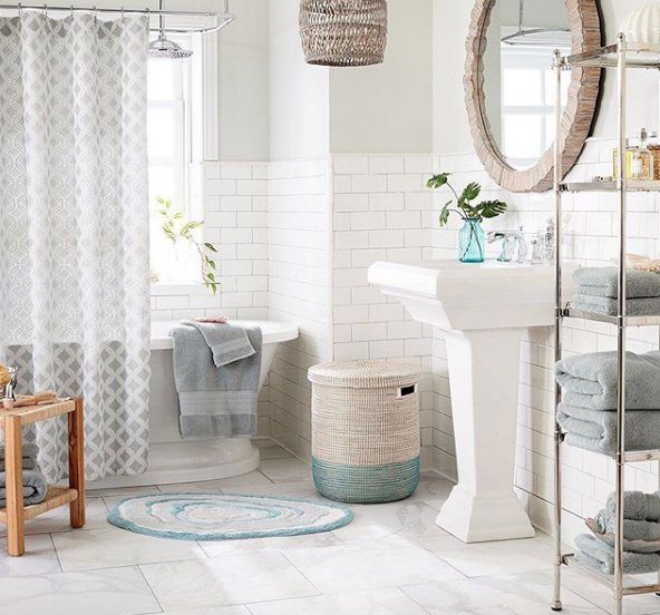 Now THIS Is A Bathroom We Could Spend All Day In. Grab The Bubble Bath And  Head Over To @pier1 At Stock Yards Village For The Best Bathroom Décor And  ...