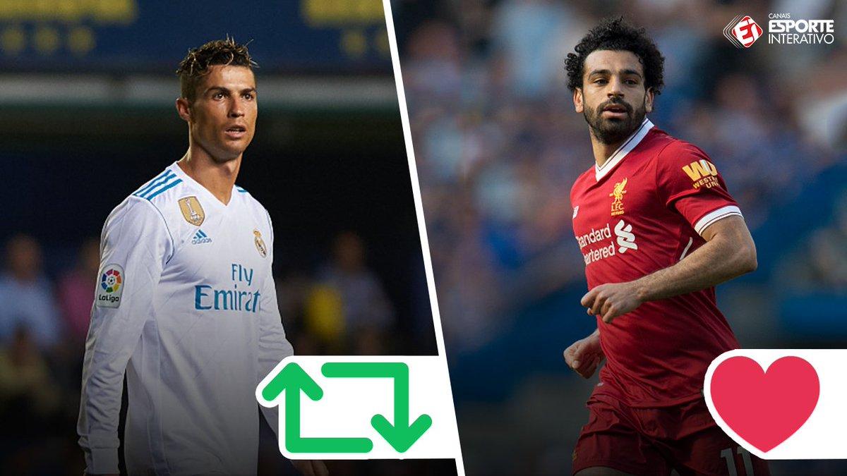 Cristiano Ronaldo e Salah: Quem você prefere? #FinaldaChampions