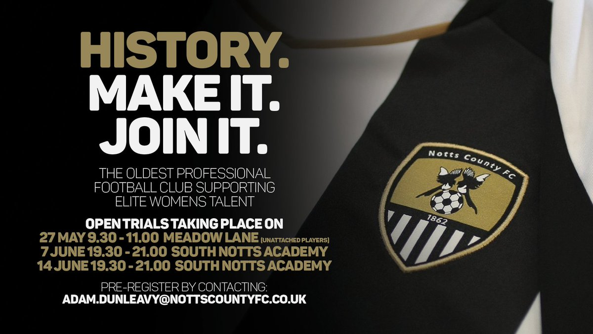 Want to play at Meadow Lane? Interested in being part of our journey? Come down to our open day tomorrow and see the project. All senior players welcome! 9:00 arrival.... Bring your boots <br>http://pic.twitter.com/PdpbEGhbRx