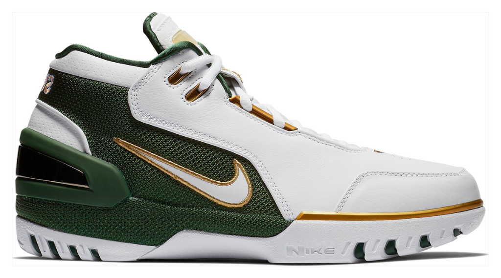 1fad2ea8 Nike throws it back to LeBron's high school days by releasing a Saint  Vincent-Saint Mary themed Air Zoom Generation colorway.