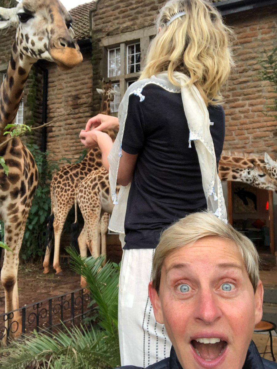 People Are Upset About This Photo Ellen DeGeneres Tweeted While Traveling In East Africa