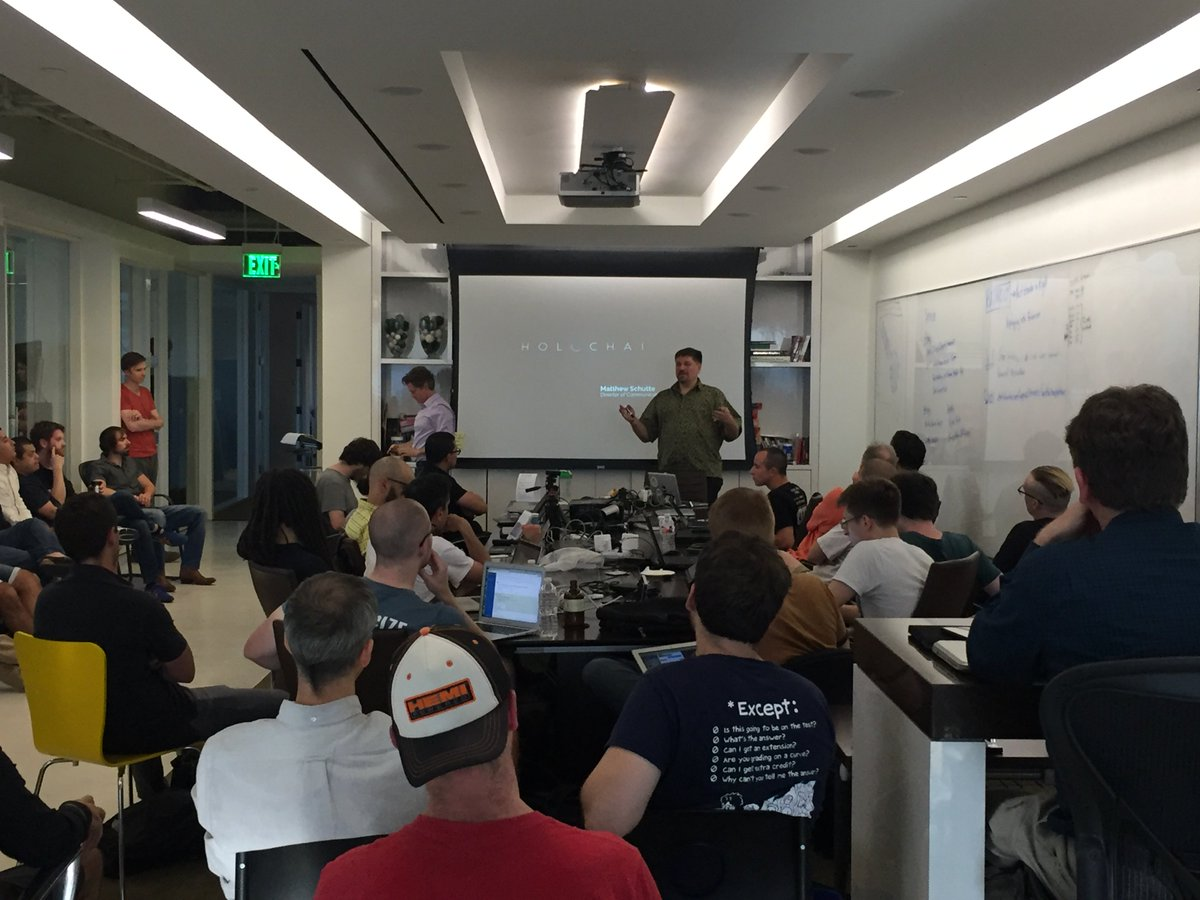 The #Austin #Holochain #Hackathon in full swing! Over 50 people in attendance are excited to learn and co-create with the goal of building an app prototype. Co-founder, Art Brock, and members of the Holochain team lead this weekend workshop.  #p2p #dApps #TakeBacktheNet<br>http://pic.twitter.com/MFRkCDmBDQ