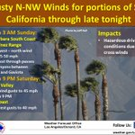 Image for the Tweet beginning: Gusty west to north winds