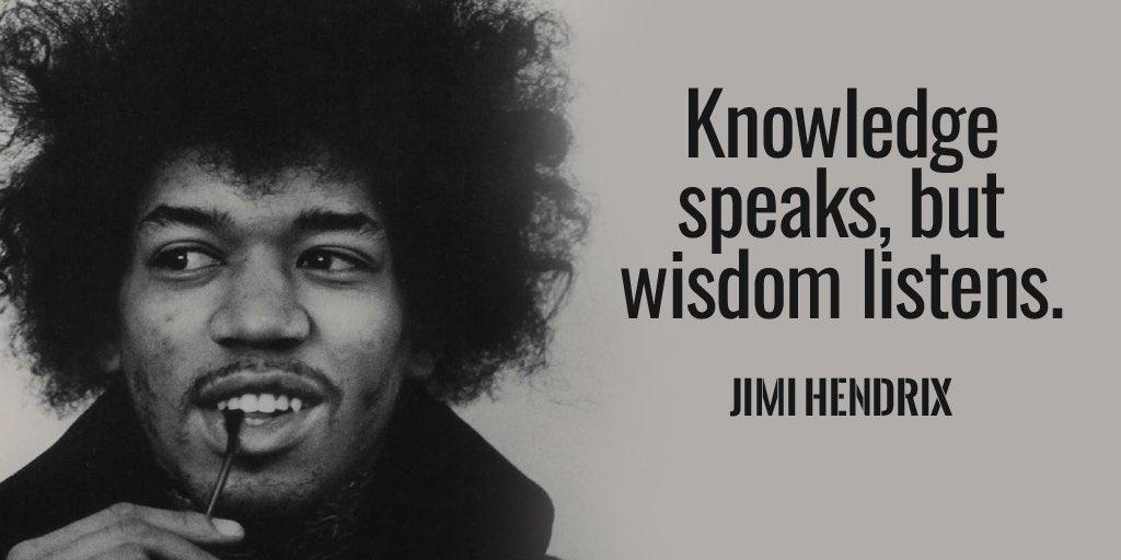 Knowledge speaks,but wisdom listens.~ Jimi Hendrix #ThinkBIGSundayWithMarsha #SuccessTRAIN #TrapaDrive #GainWithXtianDela <br>http://pic.twitter.com/OAhkSIK3pX