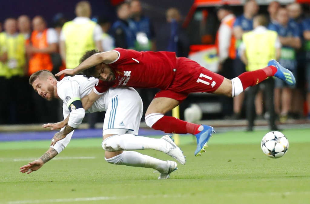 Ramos has a career in the @WWE after football. Horrible player! No sportsmanship whatsoever! #UCLfinal <br>http://pic.twitter.com/t3qbdboaYT
