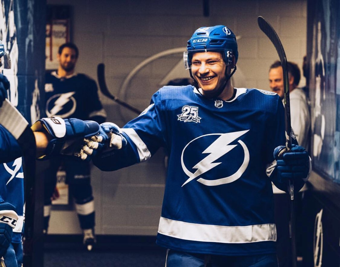 Thank you @TBLightning and all our amazing fans for making my first full season with the Lightning an unforgettable one! Looking foward to October <br>http://pic.twitter.com/tauB73nDA0
