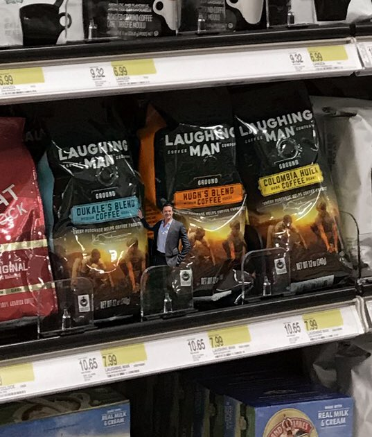 Hanging around @target looking for @laughingmanco bagged coffee. Found it! @Keurig #fairtrade #recyclable #makeeverycupcount #coffee
