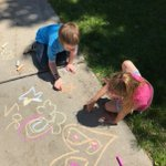 PBIS Chalk and Talk- What a fun opportunity for the Sward grade level buddies to come together and make the walkways beautiful as they lead by example! #swd123
