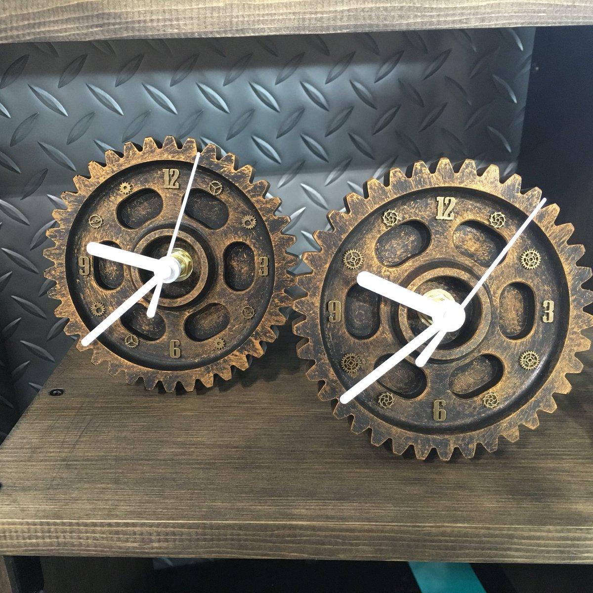 ギリギリの完成だったのでツイートしてなかったんですけど、今回も歯車置時計あります。 #steampunk #モノヴィレ2018 #サッポロモノヴィレッジ #札幌ドーム
