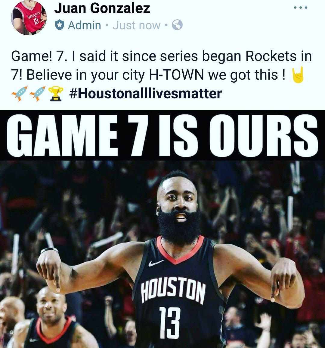 Rockets in 7 ! #Houstonalllivesmatters #HoustonRockets #Rockets  #NBA  #jamesharden  #FOLLOWME  #follow4follow  #follo4follo<br>http://pic.twitter.com/Zz94vjji5H