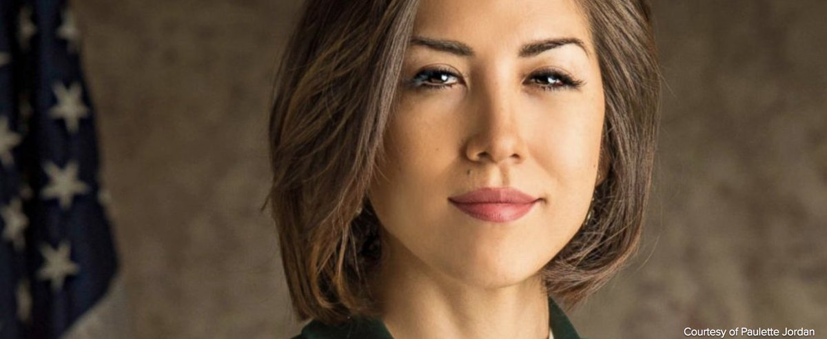 """Paulette Jordan, an Idaho gubernatorial candidate from the Coeur d&#39;Alene tribe, says """"she was birthed into politics,&quot; as she seeks to become first Native American governor.  https:// abcn.ws/2IP4SHC  &nbsp;   #18for18<br>http://pic.twitter.com/PY4OI7cGZT"""