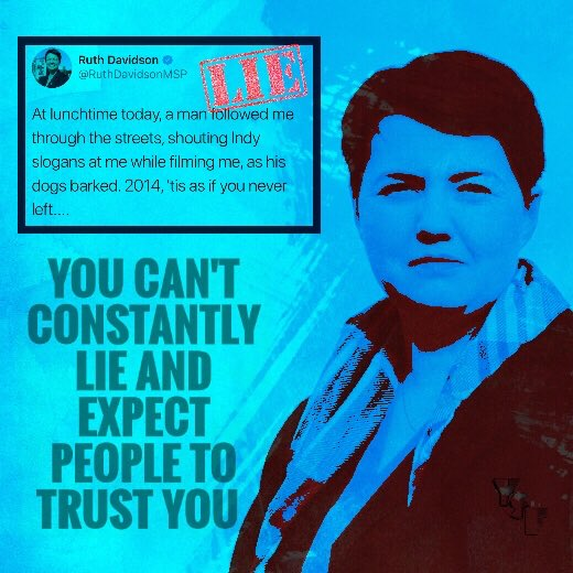 A lie is a statement used intentionally for the purpose of deception. The practice of communicating lies is called lying, and a person who communicates a lie may be termed a liar.    https://www. youtube.com/watch?v=vnQARh gFUo8 &nbsp; …   Ruth Davidson is a liar - Martin #TRuthlessDavidson <br>http://pic.twitter.com/mXdYKvSqf3