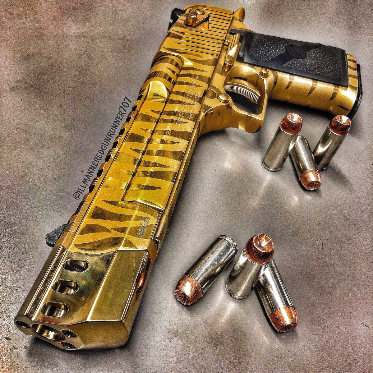 Illmannered Gun Runner 707 A Twitteren Tiger Striped Desert Eagle