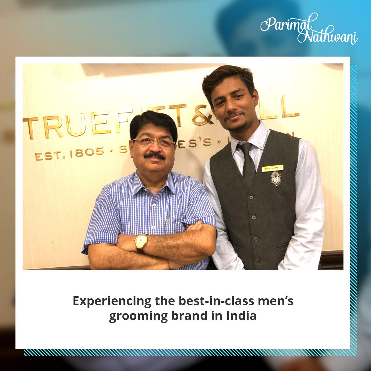 With renowned hair dresser Arif Ahmed of @TruefittHill at #Ahmedabad, renowned service provider with outlets in Mumbai, Delhi, Chennai etc, has been brought to Gujarat by Gautam Teotia. It was a nice experience as it offered an exclusive and a new level of luxury service. <br>http://pic.twitter.com/yWLmbuXepK
