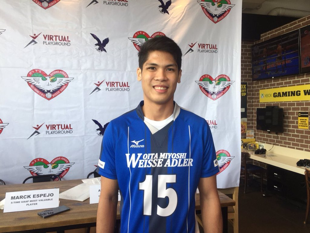 BREAKING: 5-time UAAP MVP Marck Espejo officially signs with Oita Miyoshi Weisse Adler in Japan's V1 League. He is expected to fly to Japan in August.  Photo by: @paullintag8<br>http://pic.twitter.com/AmqnEt9Pq4