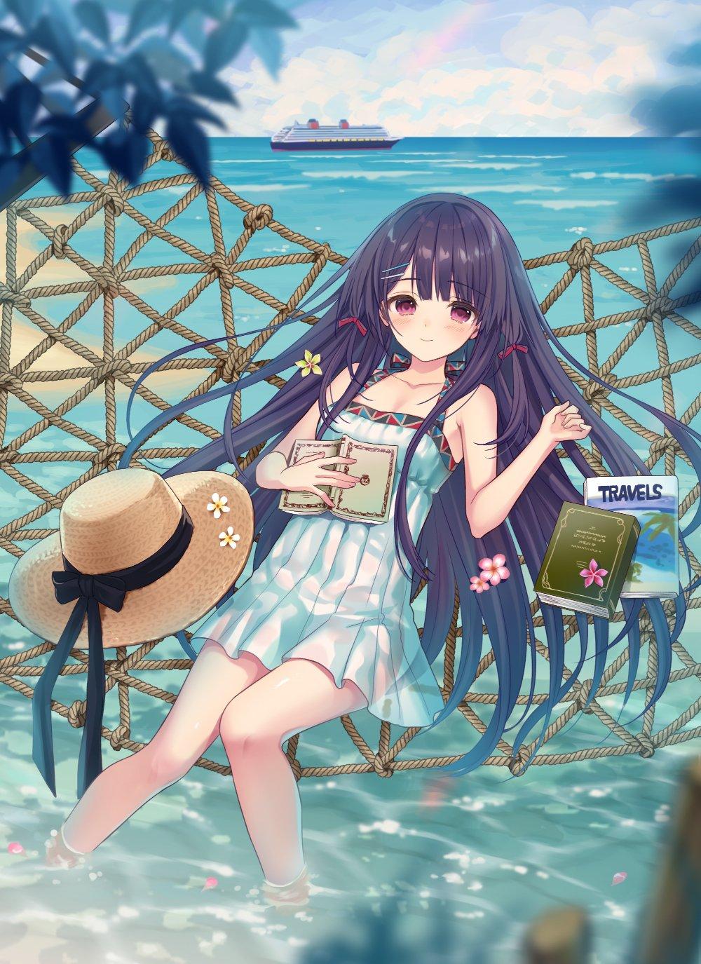 Kết quả hình ảnh cho anime girl in a hammock