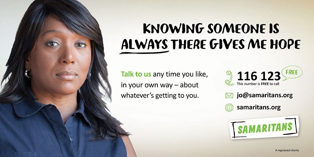 Good morning twitter  Let&#39;s spread the word to anyone you know that may be struggling this weekend They can count on us to be there for them offering a safe space to explore their feelings and thoughts on 116123 anytime free or email jo@samaritans.org #SmallTalkSavesLives<br>http://pic.twitter.com/7FX0jRHquQ