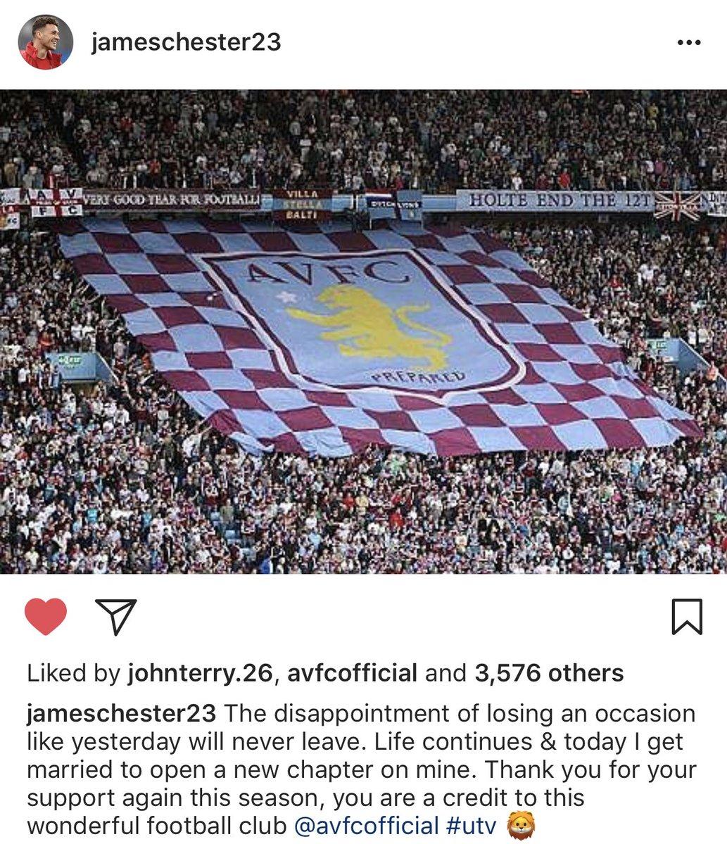 James Chester message on Instagram. [jameschester23] #avfc<br>http://pic.twitter.com/ddQVjTO4yX