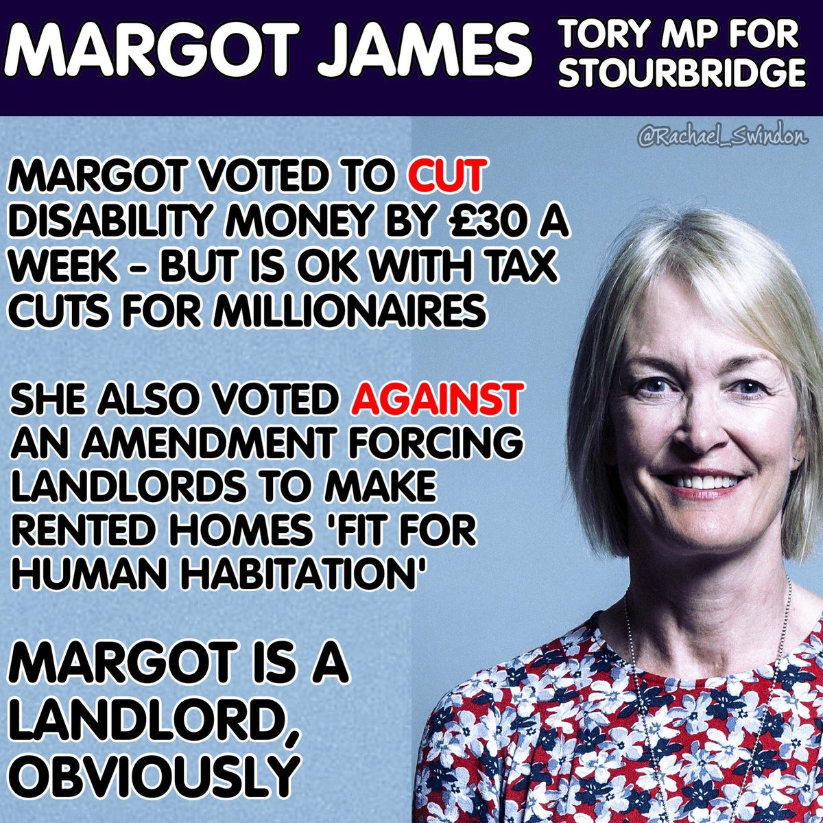 Today on #BBCSP for the Tories is @margot_james_mp and she is one of a large number of Tory MPs that voted against homes that are fit for human habitation, despite being a landlord herself. What lucky tenants she must have.<br>http://pic.twitter.com/agppqtuV9K
