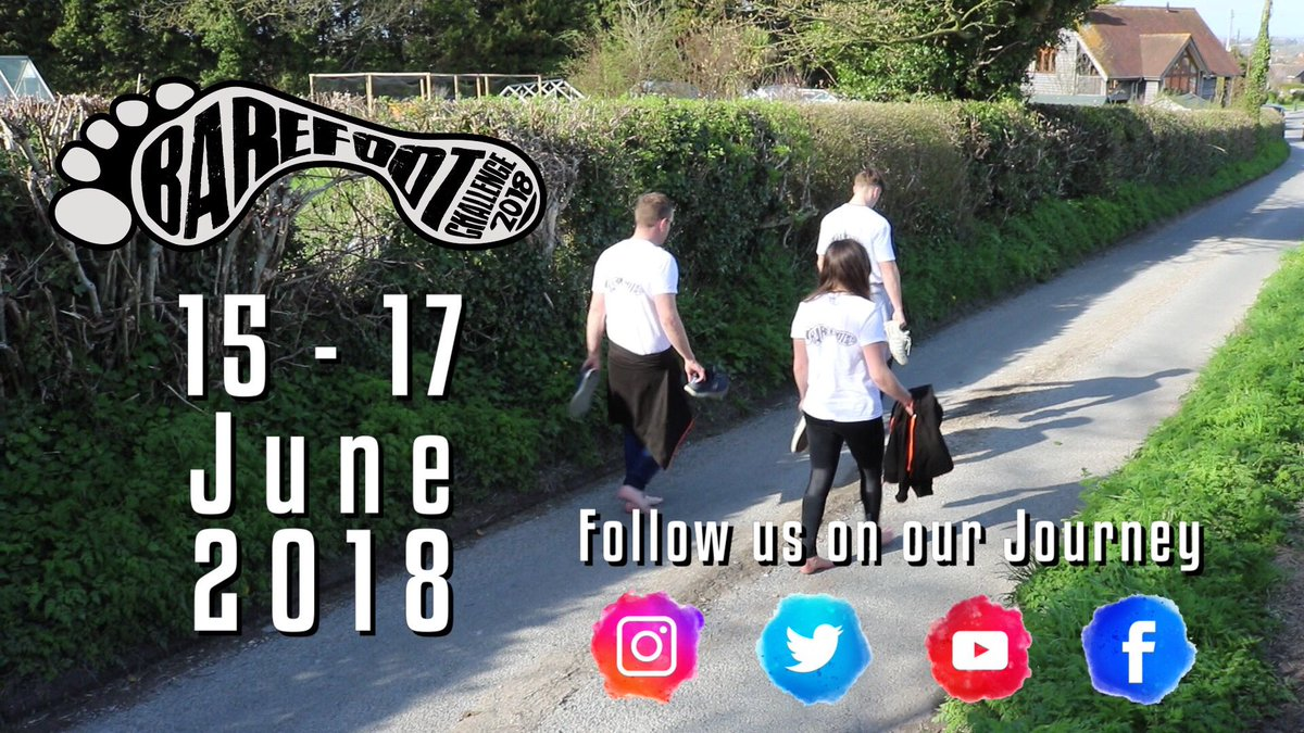 We&#39;ve got just 4 left weeks until the #BareFootChallenge in wales! Yes, we are climbing snowdon barefoot  retweet and spread awareness for mental health and to donate what you can  #MentalHealthAwareness   Just giving page &gt;  https:// buff.ly/2ushRbt  &nbsp;   <br>http://pic.twitter.com/33P4uRraSr