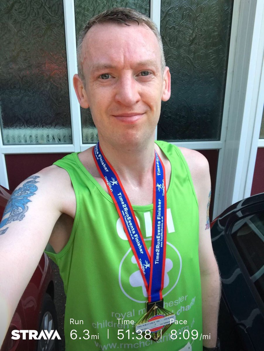 OMG 😱 Just completed The Mast Race 10k with @time2runevents.  The hardest race I've ever done ⛰🏃‍♂️😅 but I got a nice medal 🤣🎖Running #IMOAC & to raise funds for @RMCHcharity.