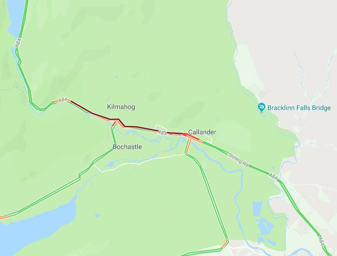 test Twitter Media - 🐌SLOW🐌  Police informing of no incidents but #A84 slow through Callander due to bank holiday traffic  #Delays https://t.co/AZ6KPYW9OP