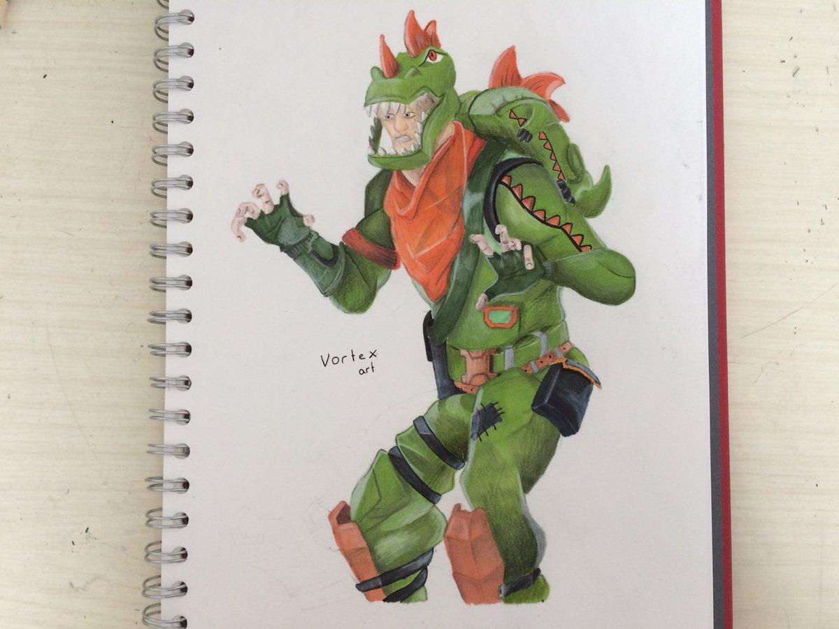 Vortex Art On Twitter Fan Art For The Rex From Fortnitegame This