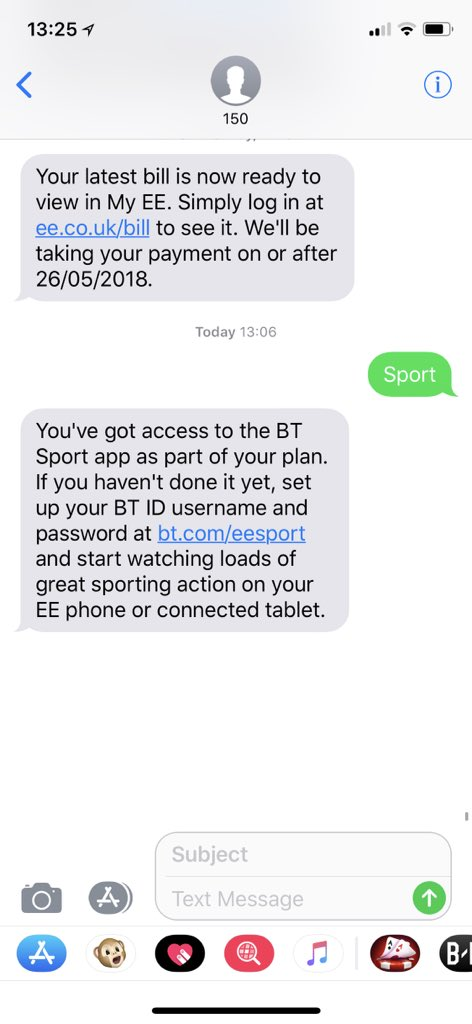 Ee On Twitter Ah Ok So You Ve Been Able To Text Sport To 150