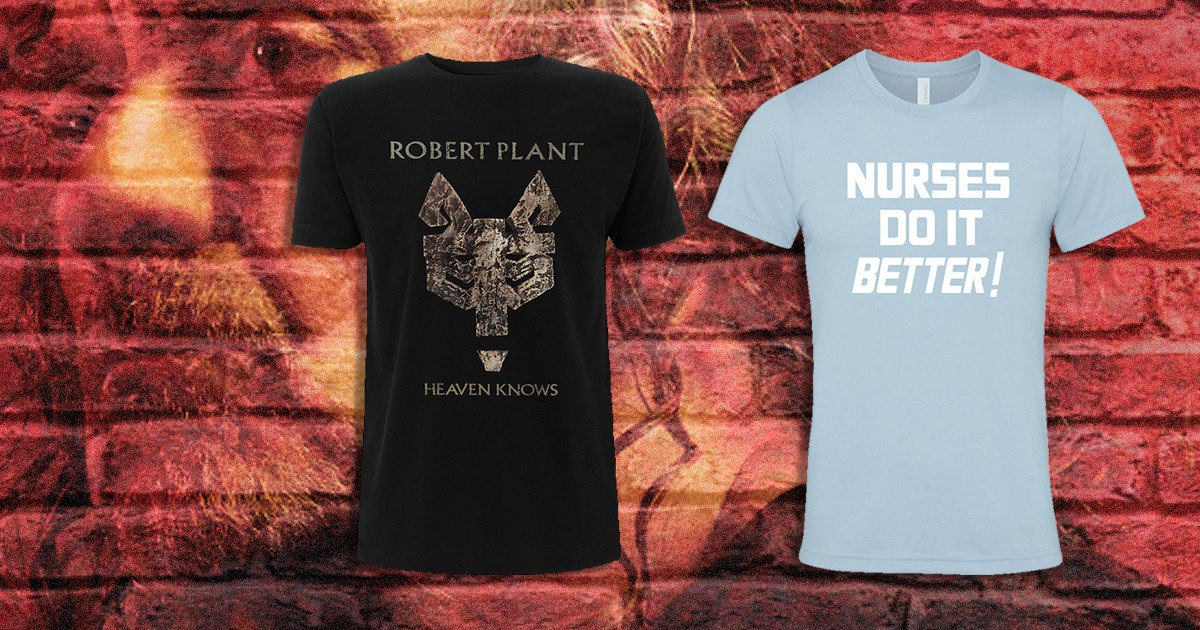 New T-shirts now available on the official online store robertplant.probitymerch.com