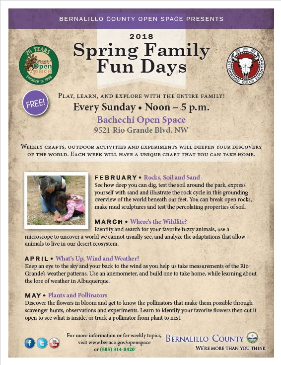 Bernalillo County On Twitter Our Spring Family Fun Days