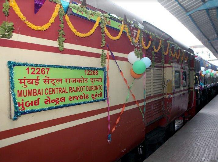 Rajkot – Mumbai Duranto train flagged off