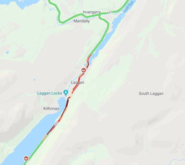 test Twitter Media - ❗️NEW❗️  #A82 BLOCKED both ways near Laggan/South Laggan due to an RTC. Traffic congested in the area. Police are there, incident awaiting recovery.  #TakeCare https://t.co/ACYECnYCCt