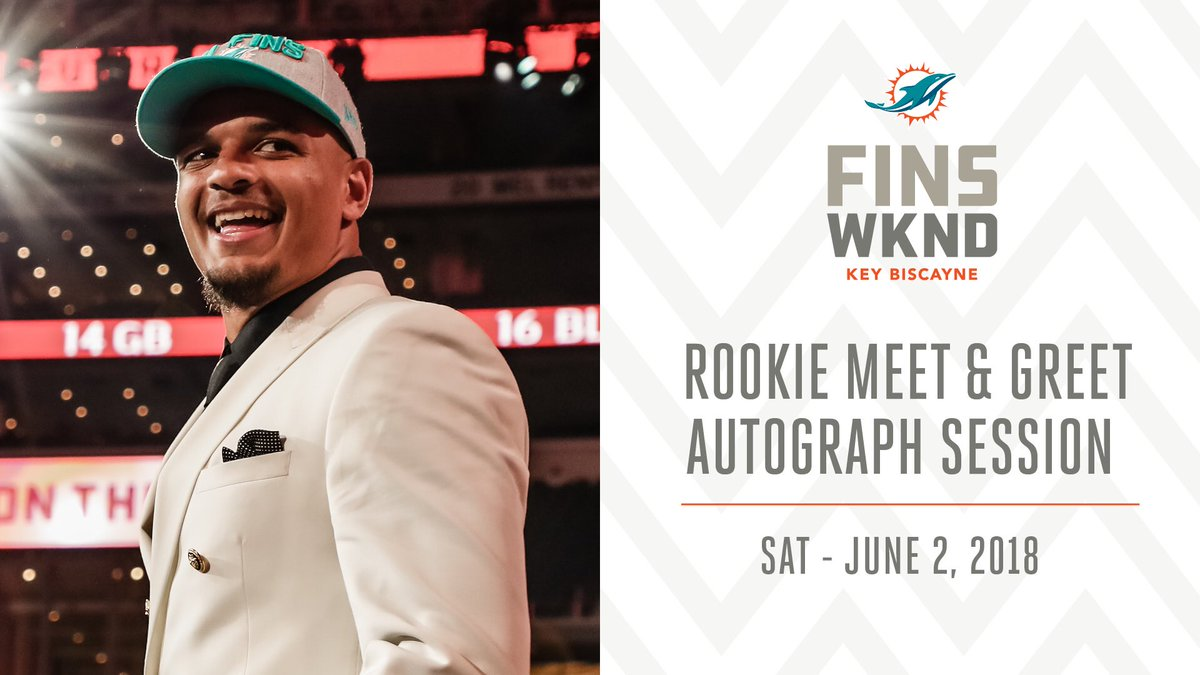 Miami dolphins on twitter meet our 2018 rookie class on saturday miami dolphins on twitter meet our 2018 rookie class on saturday from 300 to 430pm at miami marine stadium finsup m4hsunfo