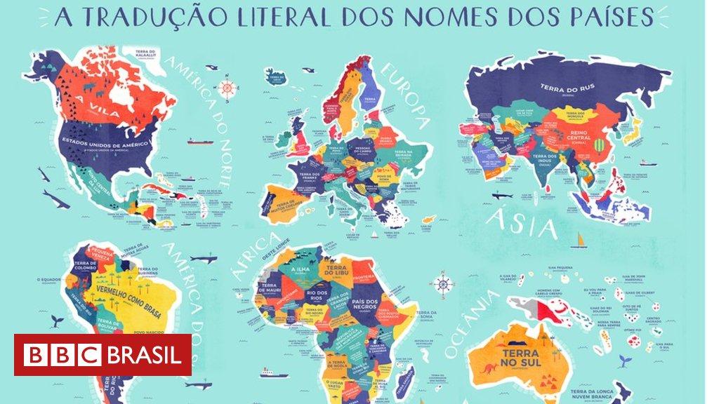 Brasil = 'vermelho como brasa'; Conheça a tradução literal do nome dos países https://t.co/qaIk7H1ccI
