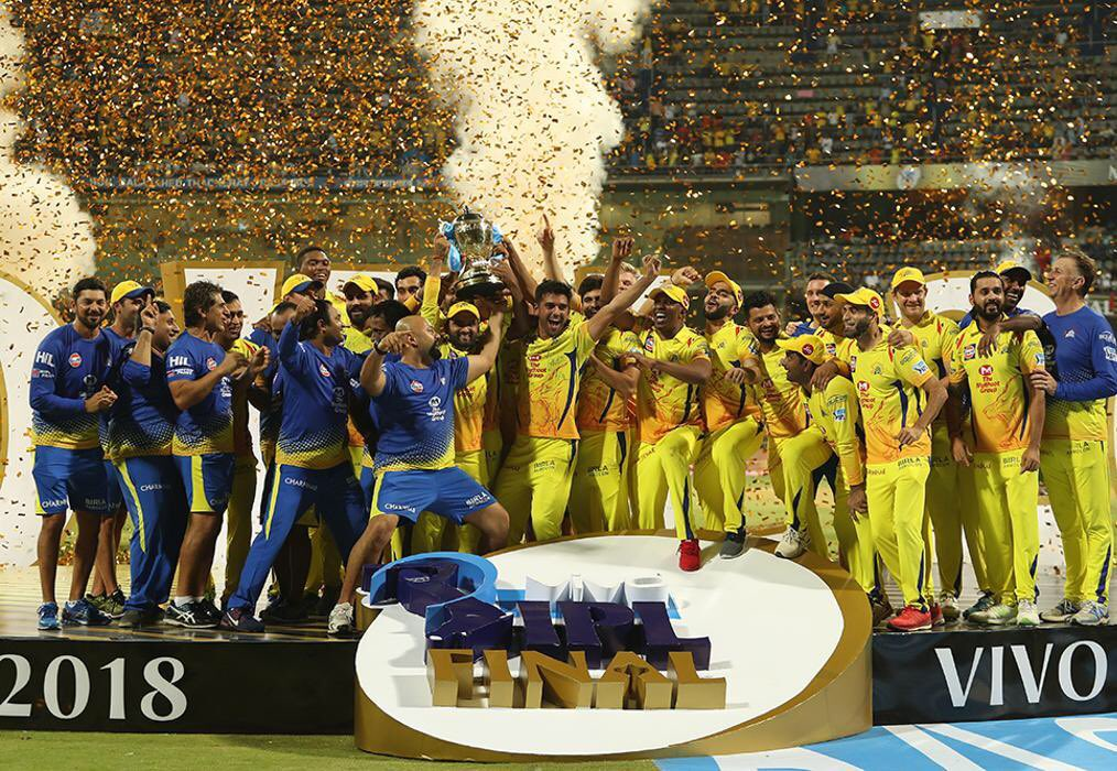 Cannot express my feelings! It's been a wonderful season for us & a fitting finish by . A well constructed innings from him today & inspiring captaincy from  right from game one takes us to our 3rd title.A big thank you to all our supporters🙏 #WhistlePodu