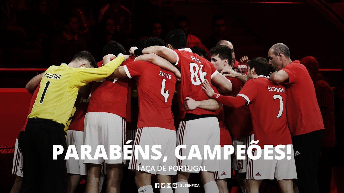 #AndebolBenfica   ⏹ A TAÇA É NOSSA!   SL Benfica 31-24 Sporting CP. #UmaCamisolaVáriasEmoções