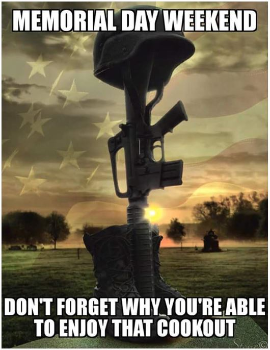 Memorial Day Weekend 🇺🇸  Dont forget why you're able to enjoy that cookout  Some gave all   #MemorialDay 🇺🇸 #SundayMorning #MAGA #MemorialDayWeekendWeekend