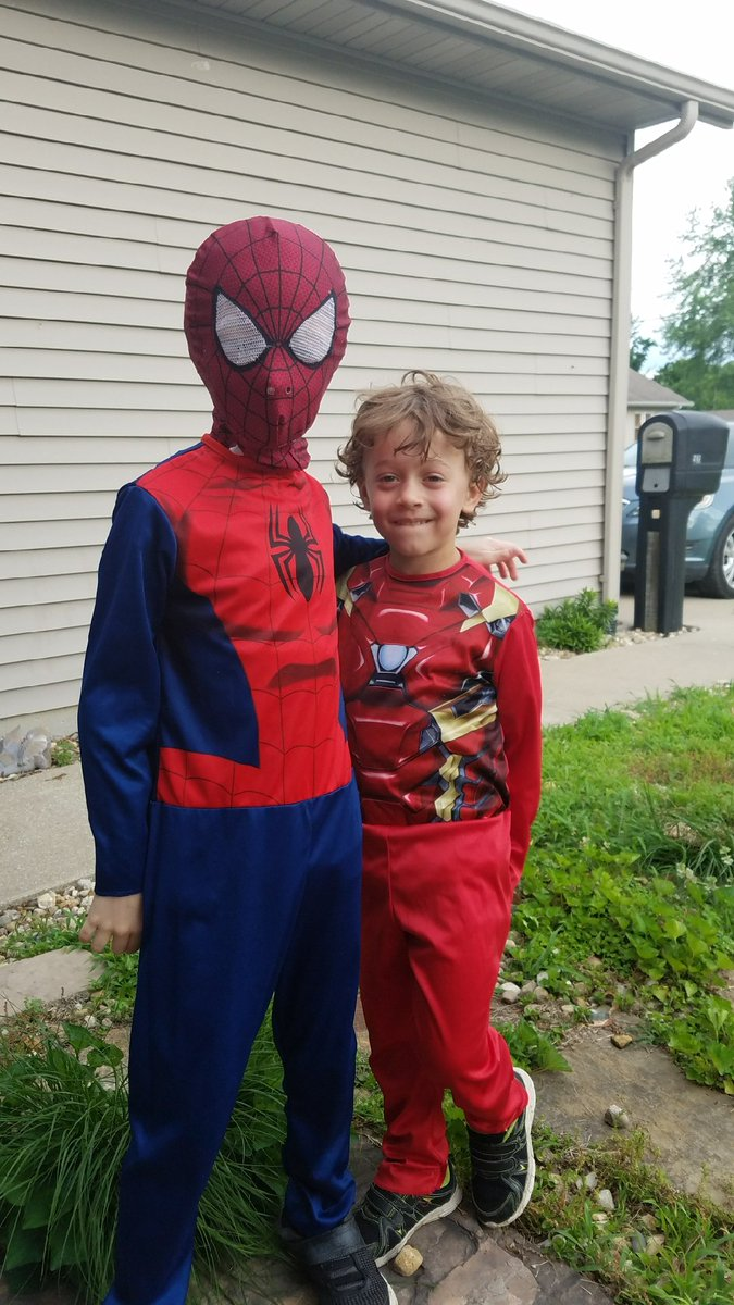Dean Anthony on Twitter  Wearing their #spiderman and #Ironman long sleeve costumes and run around the yard when its 95° out. #crazykids #MatthewDean ...  sc 1 st  Twitter & Dean Anthony on Twitter: