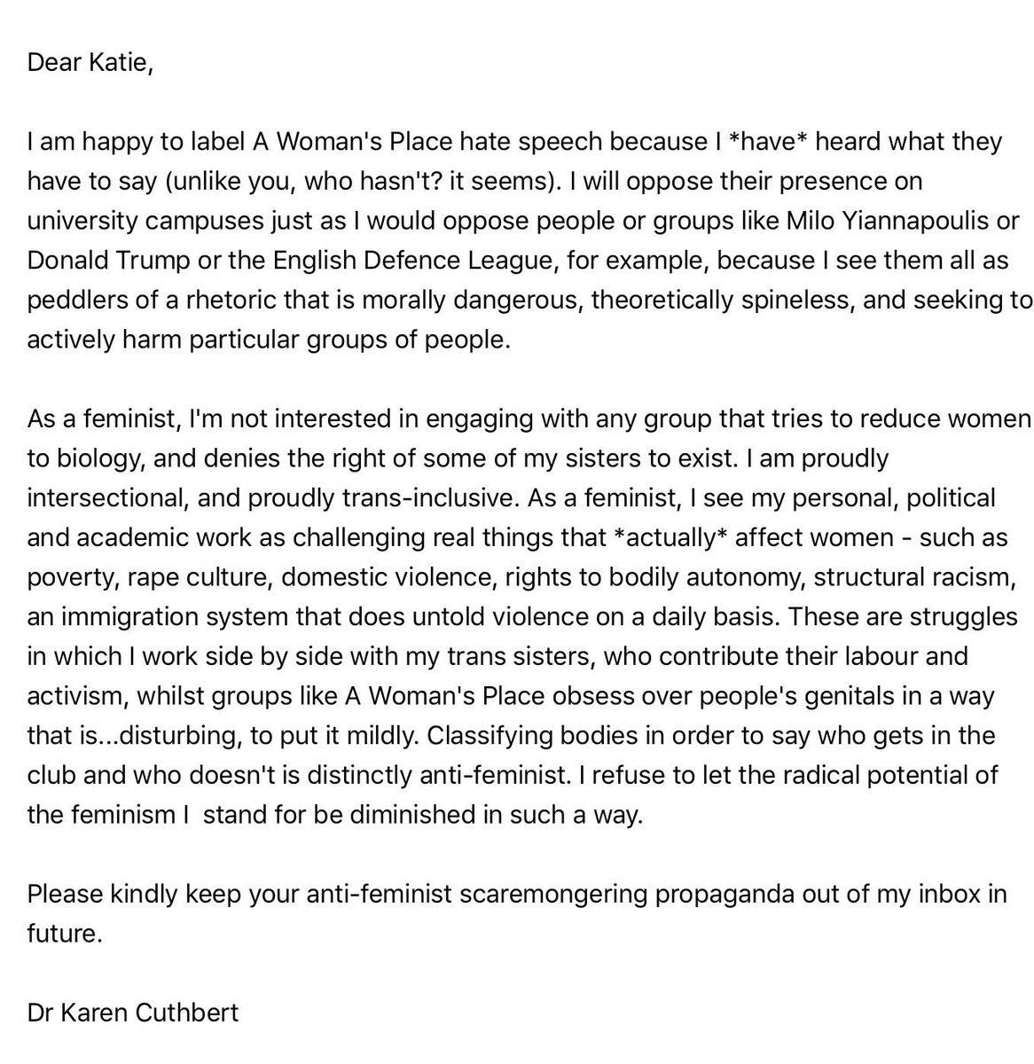 RT @karencuthbert: My response... https://t.co/RotSiNLeJ8
