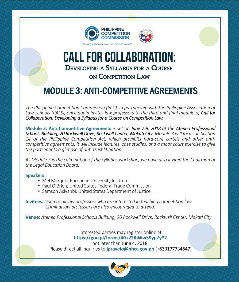 Pcc On Twitter Call For Collaboration Pcc And Pals Invite Law
