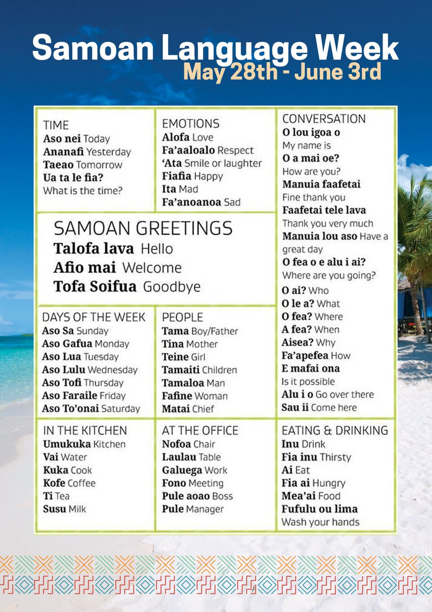 Tuputoa on twitter happy samoan language week be proud of your make an extra effort to use samoan words and phrases in our office save this post and challenge yourself to do the same tautala i lau gagana m4hsunfo