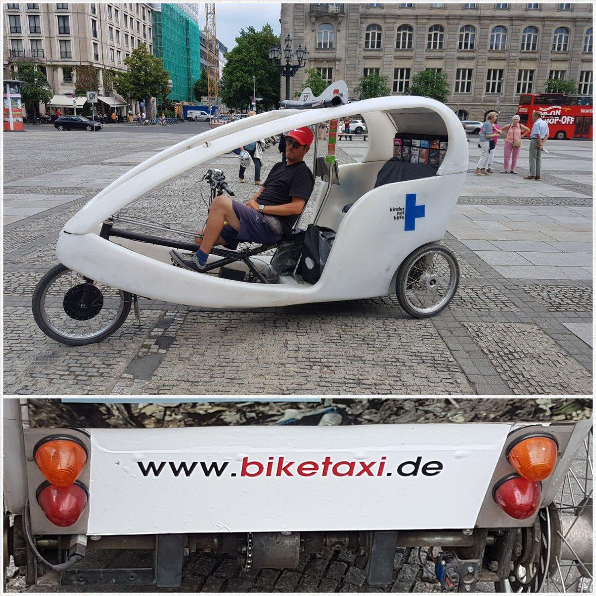 Kn Vaidyanathan On Twitter Biketaxi Berlin 3 Wheeler Pedal Taxi In Cute Design