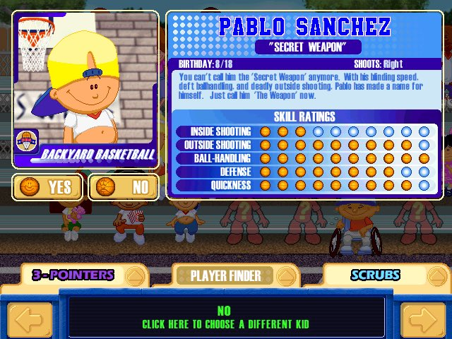"Pablo Sanchez Backyard Sports ya boy pablo sanchez on twitter: ""the only player out there better"