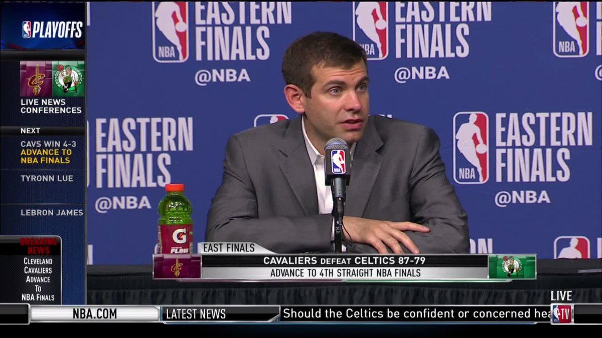 Brad Stevens reading LeBron's box score and laughing sums up Game 7