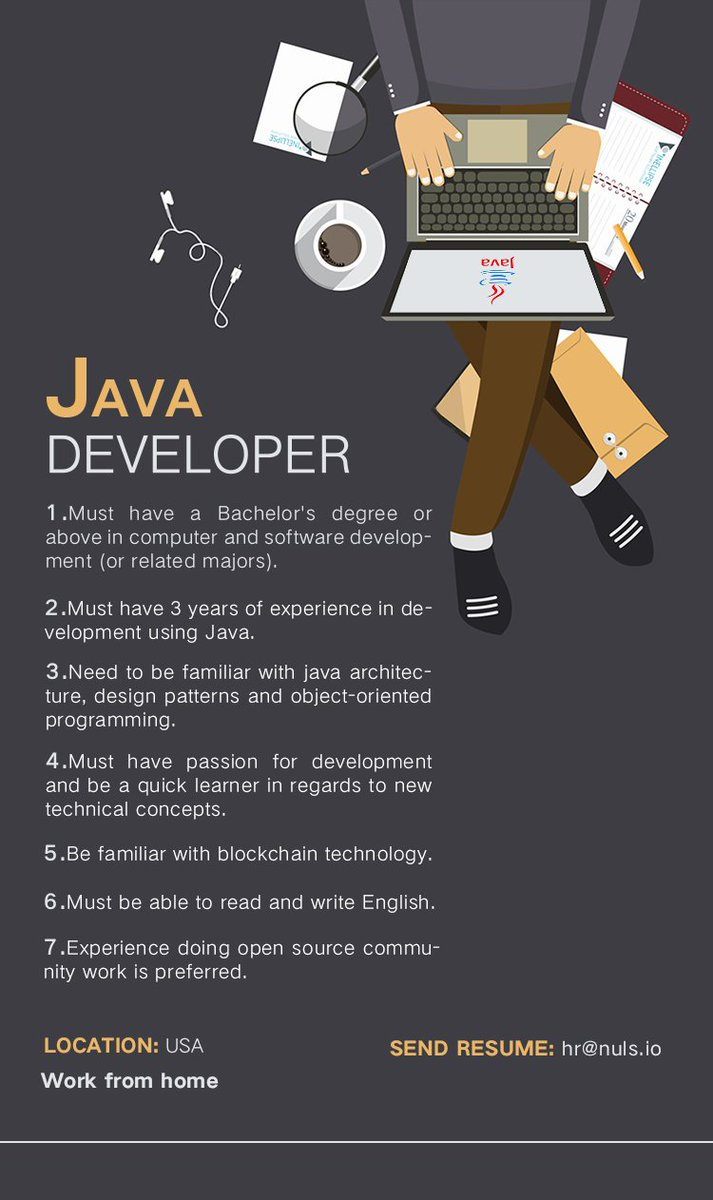 Nuls On Twitter Nuls Is Hiring A Java Developer In Usa If Youre