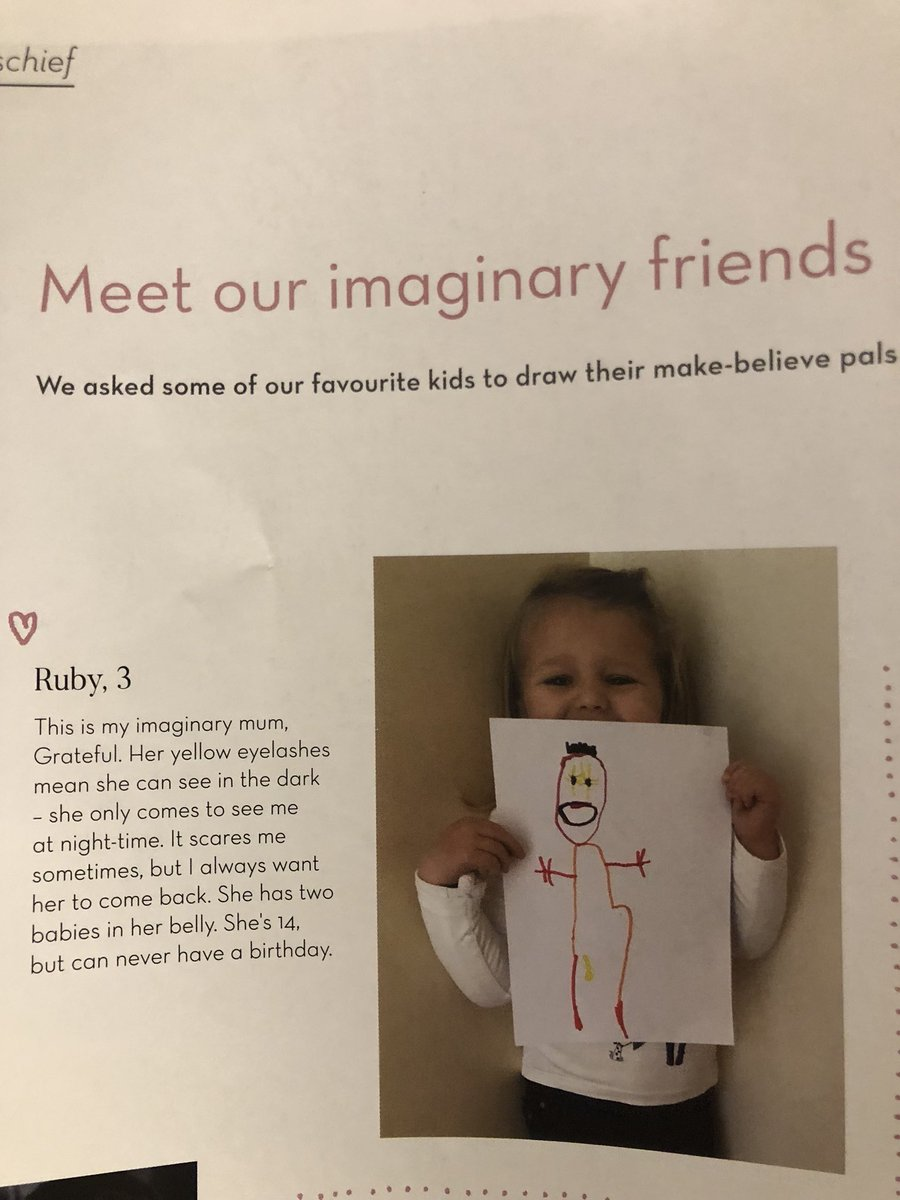 Adorable little girl has the most terrifying imaginary friend ever