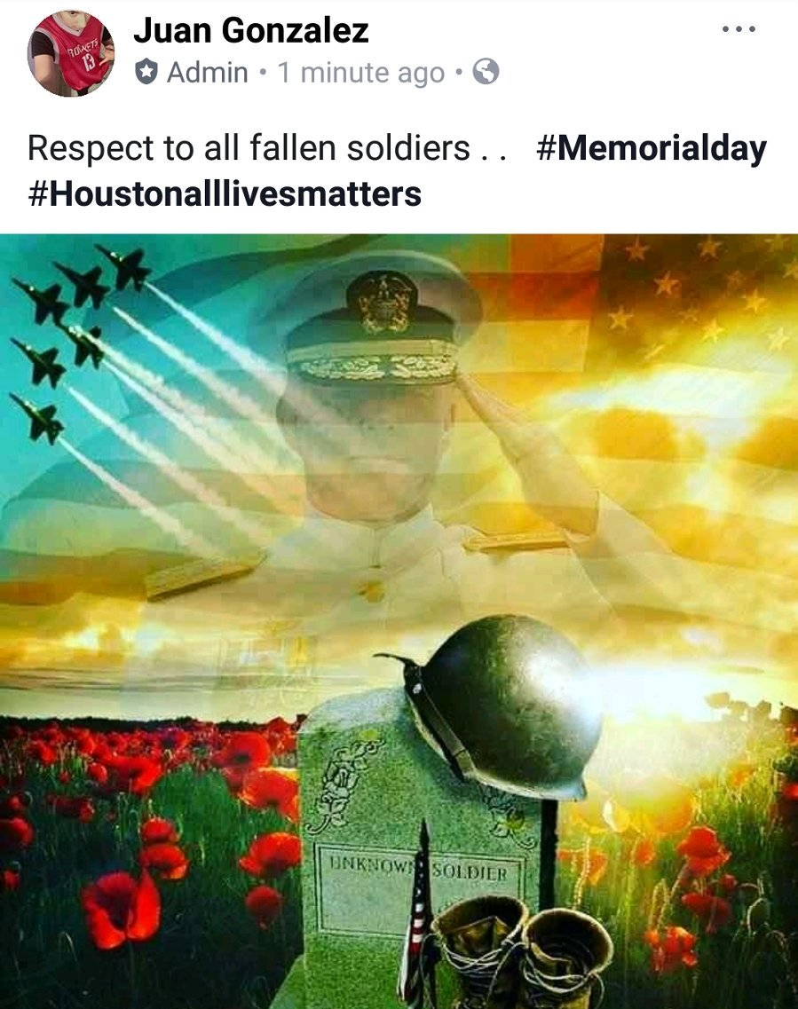 Prayers and Respect to all fallen soldiers #Houstonalllivesmatters #followback  #MemorialDay2018<br>http://pic.twitter.com/ctRrYaANwL